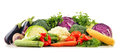 Composition with variety of fresh raw organic vegetables Stock Photography