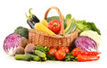 Composition with variety of fresh raw organic vegetables on white background Royalty Free Stock Image