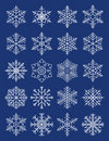 Compound geometric snowflakes Stock Images