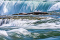 Compressed view of niagara falls telephoto image compressing the distance the features timed eposure Stock Photo