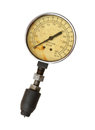 Compression tester gauge isolated on white background Stock Image