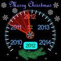 Compteur 2012 sur le tableau de bord pendant l'année neuve Image libre de droits