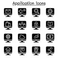Computer Application icon set