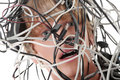 Computer cables Royalty Free Stock Photo