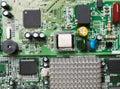 computer chip closeup Royalty Free Stock Photo