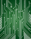 Computer circuit background a green close up Royalty Free Stock Photos