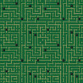 Computer circuit board pattern seamless design Stock Image