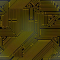Computer circuit board seamless pattern Stock Image