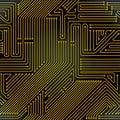 Computer circuit board seamless pattern Royalty Free Stock Photo