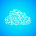 Computer cloud icon concept vector background illustration Stock Photos
