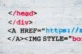 Computer code graffiti Royalty Free Stock Photo