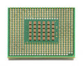 Computer CPU Chip Royalty Free Stock Images