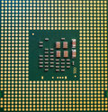 Computer CPU Processor Chip from the bottom side Royalty Free Stock Photo