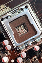 Computer cpu socket a closeup view of a computing concept vertical Royalty Free Stock Photography