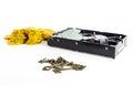 Computer Data HDD key encryption ransomware Royalty Free Stock Photo