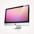 Computer display on white vector illustration Royalty Free Stock Photography