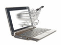 Computer e-shopping Stock Photography