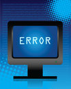 Computer error Royalty Free Stock Image