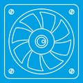 Computer fan cooler icon, outline style