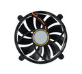 Computer fan on a white Royalty Free Stock Image