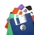 Computer floppy disk closeup on white Stock Photo