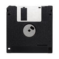 Computer floppy disk isolated on white background Royalty Free Stock Images