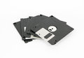 Computer floppy disks  isolated on white background Royalty Free Stock Photo