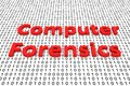 Computer forensics Royalty Free Stock Photo