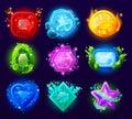 Computer Game Magic Gems Set Royalty Free Stock Photo