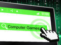 Computer Games Indicates World Wide Web And Entertaining
