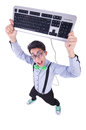Computer geek nerd in funny concept Royalty Free Stock Photos