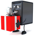 Computer with a gift Stock Images