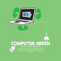 Computer with green concept illustration vector eps Stock Image