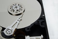 Computer hard disk internals exposed Stock Photos