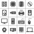 Computer Hardware Icons Royalty Free Stock Photography
