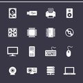 Title: Computer Hardware Icons