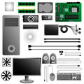 Computer hardware pc set Royalty Free Stock Photos