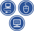 Computer hardware - Vector icons Stock Photos