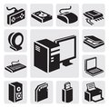 Computer icon Stock Images