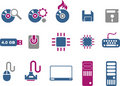 Computer Icon Set Royalty Free Stock Images