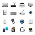 Computer icon set this image is a vector illustration Stock Photo