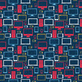 Computer icons seamless pattern Royalty Free Stock Photo