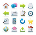 Computer icons set Royalty Free Stock Image