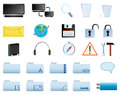 Computer icons set Royalty Free Stock Photography