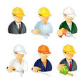 Computer icons, workpeople Stock Photo