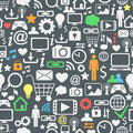 Computer and internet icons seamless pattern Royalty Free Stock Photo