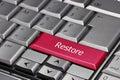 Computer key - Restore Royalty Free Stock Photo