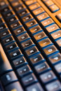 Computer keyboard background selective focus high resolution Royalty Free Stock Image