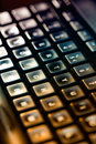 Computer keyboard background selective focus high resolution Royalty Free Stock Photo
