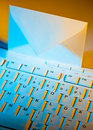 Computer keyboard and envelope. E-mail. Royalty Free Stock Images